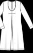 Сукня трикотажна з шовковою шаллю - фото 3