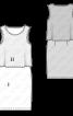 Сукня трикотажна з двошаровим верхом - фото 3