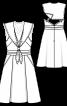 Сукня на бретелях в морському стилі - фото 3