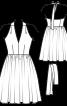 Сукня з відкритою спиною в стилі нью-лук - фото 3