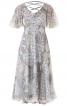 Сукня з глибоким вирізом і рукавами-крильцями - фото 2