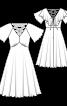 Сукня з глибоким вирізом і рукавами-крильцями - фото 3