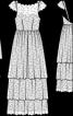 Сукня триярусна з відкритою спиною - фото 3