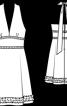Сукня з відкритою спиною і поясом а-ля корсаж - фото 3