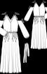 Сукня з відкритими плечима і пишними рукавами - фото 3