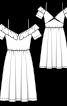 Сукня на бретелях і з декольте на спинці - фото 3