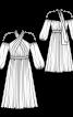 Сукня з відкритими плечима і рукавами-балон - фото 3