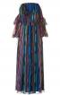 Сукня-максі з відкритими плечима - фото 2