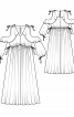 Сукня-максі з відкритими плечима - фото 3