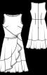 Сукня відрізна з воланами і драпіровкою - фото 3