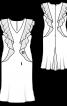 Сукня-футляр з воланами у рельєфних швах - фото 3