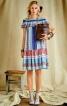 Сукня з вирізом кармен і оборками - фото 1