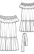 Сукня з вирізом кармен і оборками - фото 3