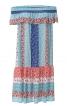 Сукня з вирізом кармен і оборками - фото 2