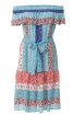 Сукня з вирізом кармен і оборками - фото 4