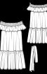 Сукня просторого крою з вирізом кармен - фото 3