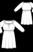 Сукня простого крою з вирізом кармен - фото 3