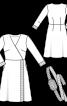 Сукня із запахом і поясом обі - фото 3
