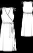 Сукня міді трикотажна із запахом - фото 3