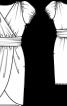 Сукня з креп-шифону з одним рукавом - фото 3