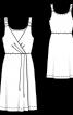 Сукня трикотажна на бретелях - фото 3