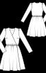 Платье отрезное с эффектом запаха - фото 3