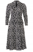 Сукня трикотажна з ефектом запаху і драпіровками - фото 2