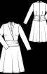 Сукня трикотажна з ефектом запаху і драпіровками - фото 3