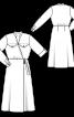 Платье с запахом и элементами рубашечного кроя - фото 3