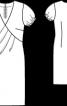 Сукня з запахом і рукавами-ліхтариками - фото 3