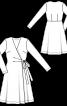Сукня із запахом і розкльошеною спідницею - фото 3
