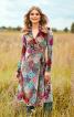 Сукня із запахом і розкльошеною спідницею - фото 1