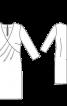 Сукня з запахом і рукавами 3/4 - фото 3