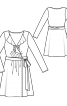 Сукня трикотажна із запахом і воланами - фото 3