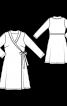 Сукня з запахом і шалевим коміром - фото 3