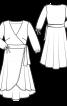 Сукня із запахом і рукавами 3/4 - фото 3