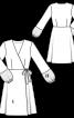 Сукня із запахом і пишними рукавами - фото 3