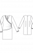 Сукня із запахом і драпіровками - фото 3