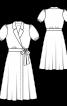 Сукня сорочкового крою з запахом - фото 3
