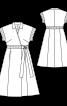 Сукня з запахом і відкладним коміром - фото 3