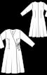 Сукня приталеного силуету із запахом - фото 3