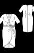 Сукня трикотажна з асиметричним низом - фото 3