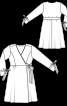 Сукня відрізна із запахом і зав'язками - фото 3