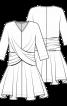 Сукня з драпіровками з ефектом запаху - фото 3