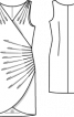 Сукня з ефектом запаху і драпіровками - фото 3