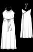 Платье миди с запахом на спинке - фото 3