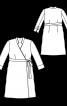 Сукня із запахом і коміром-стойкою - фото 3