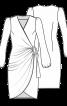 Сукня з запахом і глибоким вирізом - фото 3