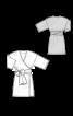 Платье покроя кимоно с широким поясом-бантом - фото 3