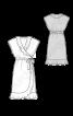 Платье с запахом и воланами - фото 3